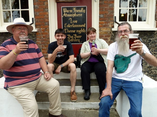 Pratts Bottom 2014 - Chris, Simon, Jeanette & Rufus