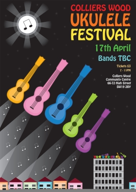 Colliers Wood - Uke Festival Poster