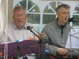 Pratts Bottom Village Fete May 2011 - Chris & James Crooning Again