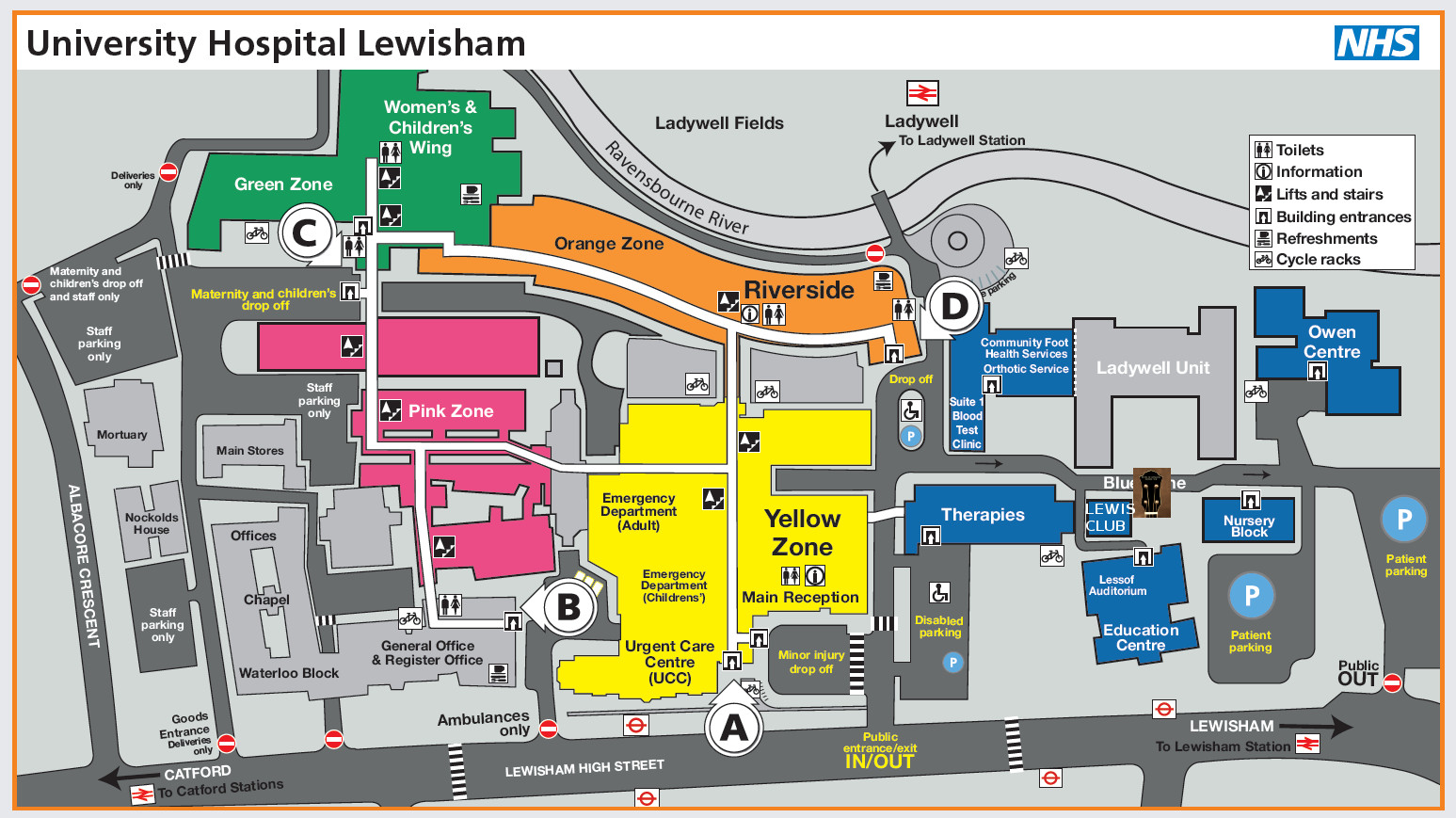 Lewisham Hospital Map Find Us | People of Lewisham's Ukulele Club Lewisham Hospital Map