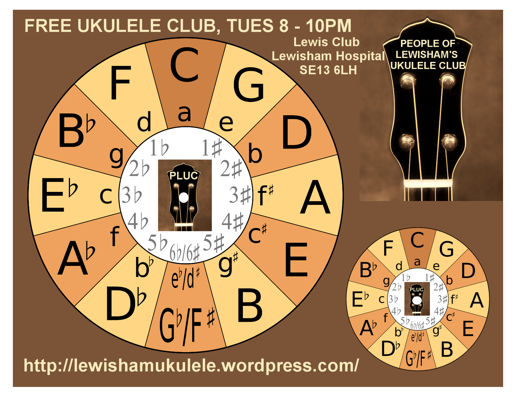 This is a picture of Magic Printable Circle of Fifths Wheel