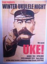 PLUC WInter Uke Night - Kitchener Poster