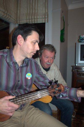 PLUC At Simon's 40th - Simon And Father Playing
