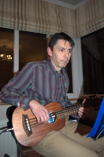 PLUC At Simon's 40th - Simon With Bass Uke