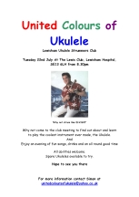 Ukulele Elvis Advert - 22 July 2008  - Inaugural Club Night