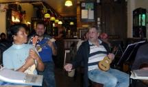 Xmas Strumalong 2013 - 07 Tina, Anthony & Kev