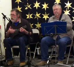 Brindishe Green Xmas Fair Nov 2014 01 - Rufus & Chris