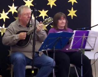 Brindishe Green Xmas Fair Nov 2014 03 - Chris & Jeanette