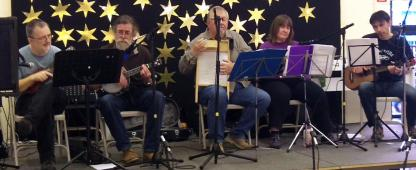 Brindishe Green Xmas Fair Nov 2014 10 - Andrew, Rufus, Chris, Jeanette & Simon