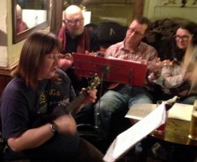 Xmas 2014 - 06 Jeanette, Steve J, Bob & Maria 01