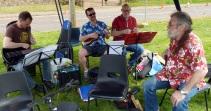 Pratts Bottom 2016 07 - Colin, Bob, Steve & Rufus
