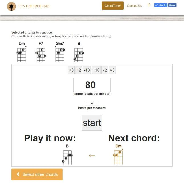 You Select A Number Of Chords To Practice Either Random
