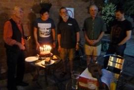 PLUC10 Cake - Dave S, Simon, Rufus, Jos & Colin