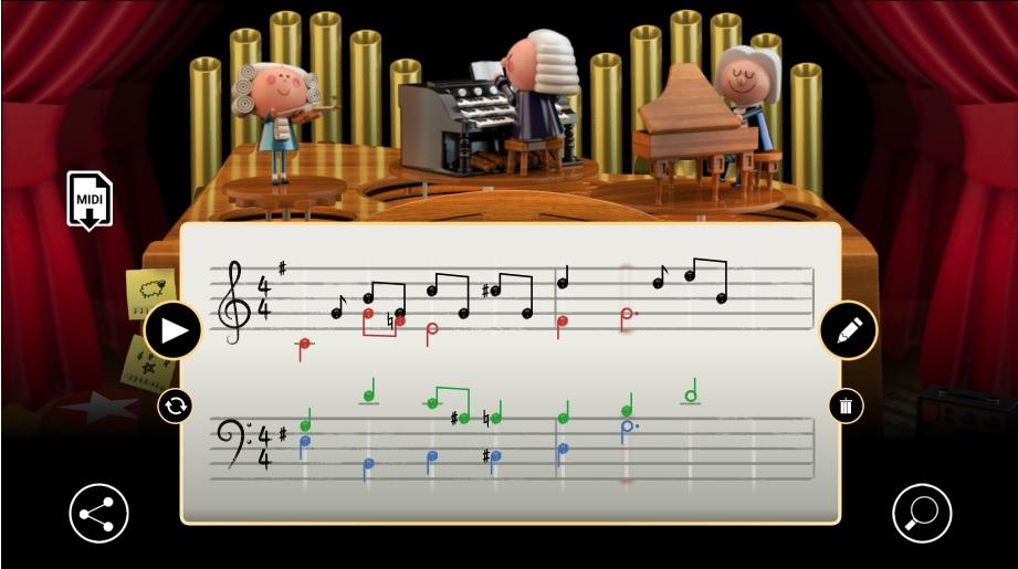 JS Bach Google Doodle
