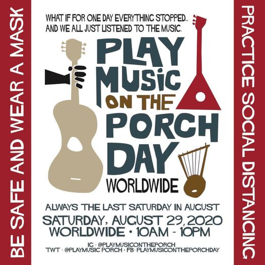 Play Music On The Porch Day - Aug 29 2020